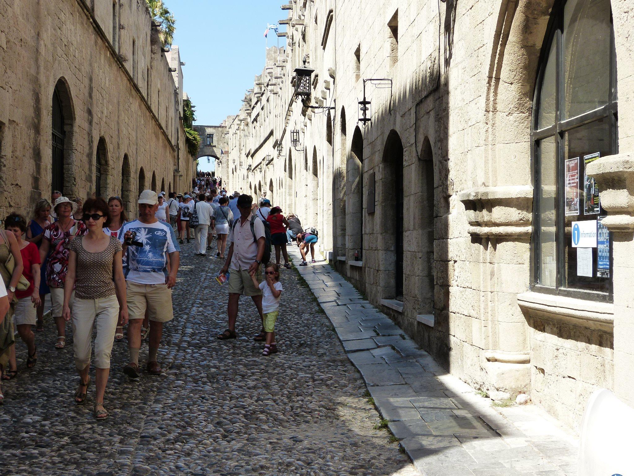 Rodosz város - Lovagok utcája
