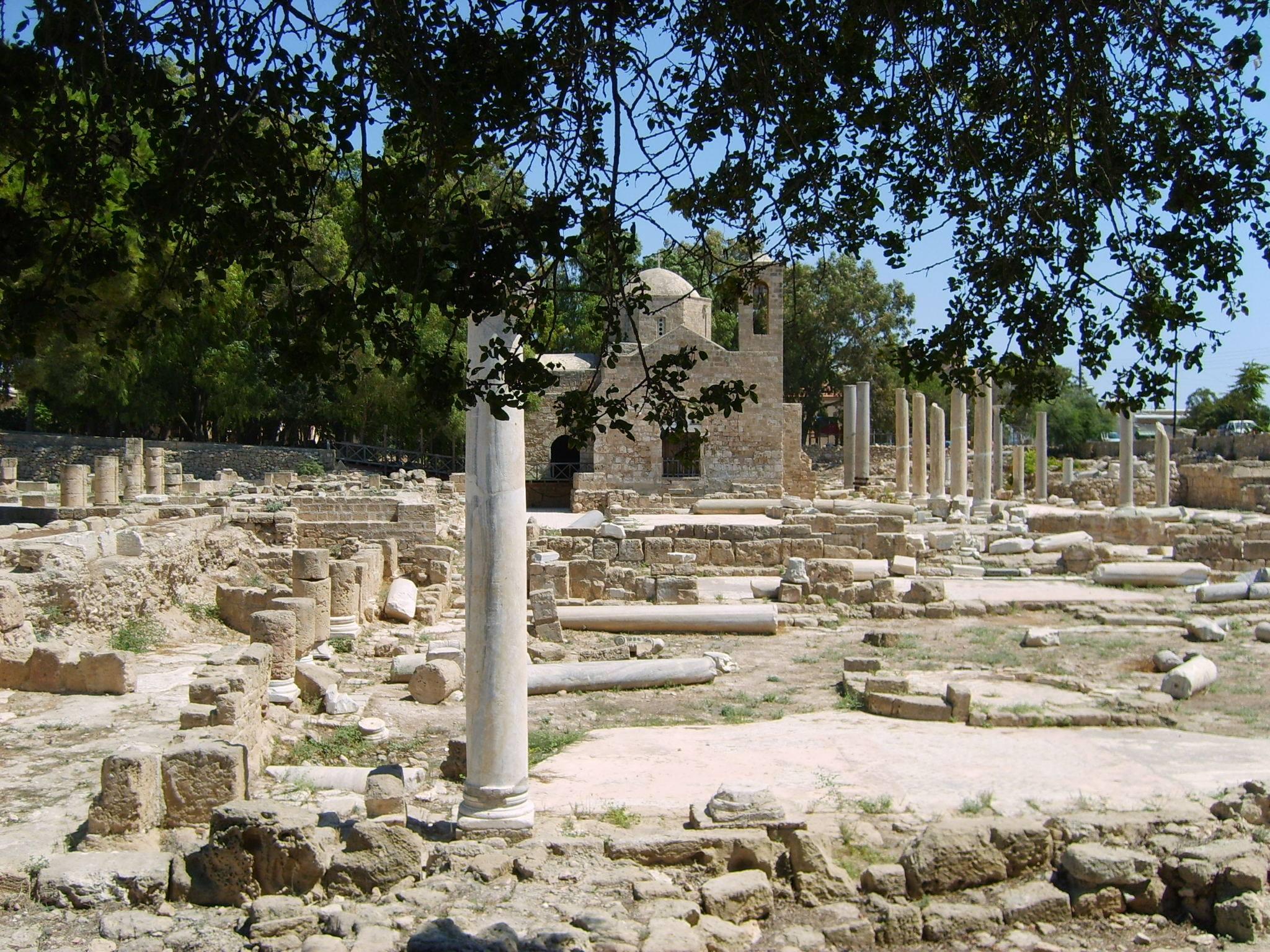 Kato-páfoszi Régészeti Park Cipruson  - ásatási terület római kori villák maradványaival és mozaikokkal, Világörökségi védelem alatt álló terület.