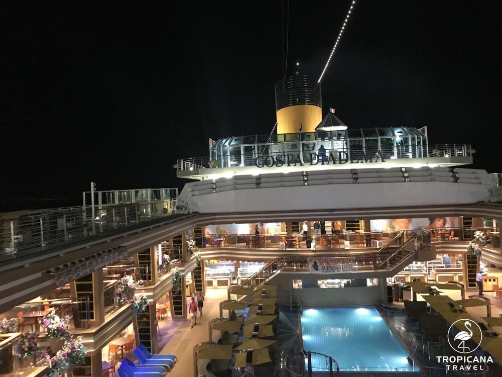 Costa Diadema fedélzet